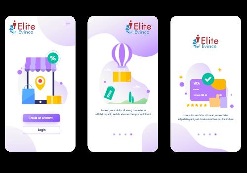 Mobile App Screens Design