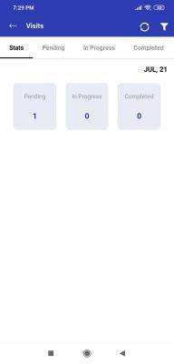 Manage Visits through App