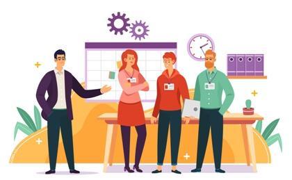 Service based Company Staff App